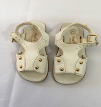 Vintage 1970's Stride Rite White Leather Baby Sandals Size 2 1/2 - $9.46