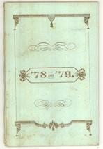 Holyoke high School MA 1878 addresses bootlet Gibbs Lyman ephemera - $28.00