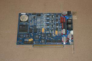 BROOKTROUT RHETOREX DIOLOGIC 4-PORT RDSP-M5/400 432 TELEPHONY VOICE ISA CARD