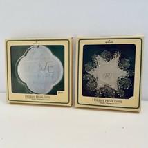 Set of 2 Hallmark Holiday Highlights Acrylic Ornament LOVE & STAR 1979/80 - $19.70
