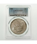 1886 $1 Silver Morgan Dollar Graded by PCGS as MS-65! Great Morgan - $247.50