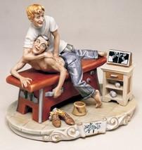 CAPODIMONTE Chiropractor by Enzo Arzenton Laurenz Sculpture COA  Italy - $702.42