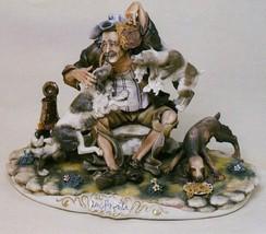 CAPODIMONTE  Old Man witrh Dogs  Enzo Arzenton Laurenz Sculpture COA  Italy - $698.00