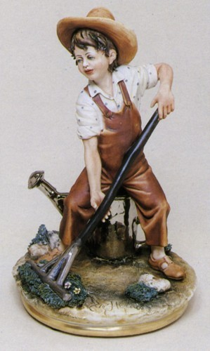 Primary image for CAPODIMONTE  The Child Gardner Enzo Arzenton Laurenz Sculpture COA  Italy