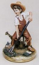 CAPODIMONTE  The Child Gardner Enzo Arzenton Laurenz Sculpture COA  Italy - $249.99