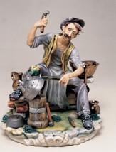 CAPODIMONTE  The Coppersmith Laurenz Classic Sculpture Italy COA - $482.79