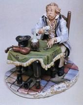 CAPODIMONTE  The Unsuccessful Violinist Italy Laurenz Sculpture COA - $508.01