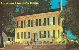 Abraham Lincoln's Home, Springfield Illinois 1968 used Postcard  - $3.99