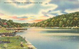 Annisquam River from the Bridge, Annisquam, Mass 1950 used linen Postcard  - $4.99