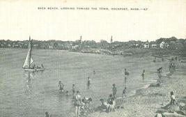 Back Beach looking toward the Town, Rockport, Mass unused linen Postcard  - $7.99