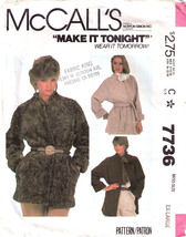 1981 Wrap Jacket Pattern 7736 M Sizes 22 24   Uncut - $12.99