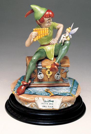 Primary image for Disney Capodimonte Peter Pan with Tinker Bell Tinkerbell C.O.A. MIB