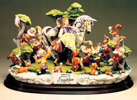 Disney Capodimonte Snow White Prince  7 Dwarfs &  Friends 50th Anniversa... - $2,784.63