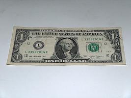 2013 $1 Dollar Bill US Note Date Year 2014 Pair 3s 33592014 Fancy Serial Number - $11.22
