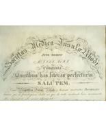 1867 RHODE ISLAND MEDICAL SOCIETY Diploma HENRY... - $20.00