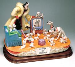 Disney Cruella De Vil 101 Dalmatians  Capodimonte Laurenz  C.O.A. Original Box - $2,867.00
