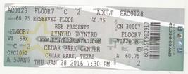 Cool LYNYRD SKYNYRD 1/28/16 Cedar Park TX Concert Ticket! Austin - $11.87