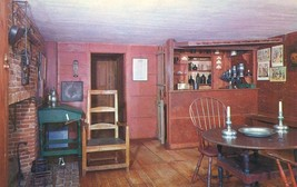 Deerfield, Massachusetts, Bar Room, Hall Tavern unused Postcard  - $4.99