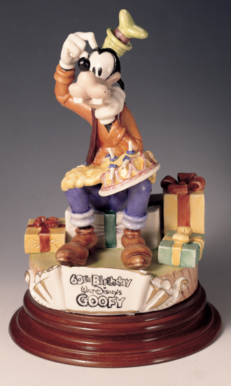 Primary image for Disney  Goofy 60th Birthday Capodimonte Laurenz C.O.A. Original Box