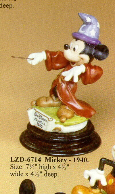 Primary image for Disney Mickey 1940 Sorcerer Figure  Laurenz Capodimonte C.O.A. Original Box