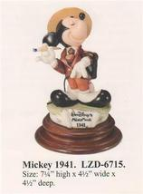 Disney Mickey Mouse 1941 Capodimonte Laurenz C.O.A. Original Box - $290.25