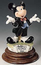 Disney Mickey Mouse 1955 Laurenz Capodimonte LE C.O.A. Original Box