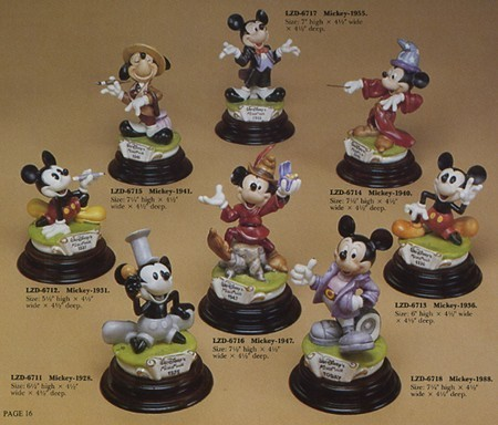 Primary image for Disney Mickey Mouse 8 Piece Set Capodimonte Laurenz figurines C.O.A MIB.