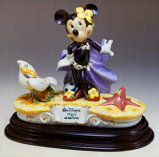 Primary image for Disney Minnie Mouse at Beach Capodimonte Laurenz C.O.A. Original Box