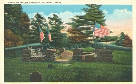 Grave of Myles Standish, Duxbury Mass 1920s unused Postcard  - $3.99