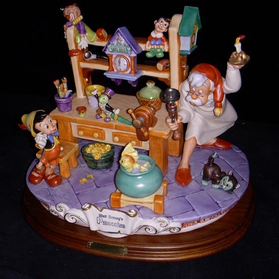 Primary image for Disney Pinocchio & Gepetto Workshop Capodimonte  Laurenz C.O.A Original Box