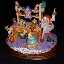 Disney Pinocchio & Gepetto Workshop Capodimonte  Laurenz C.O.A Original Box - $2,212.00