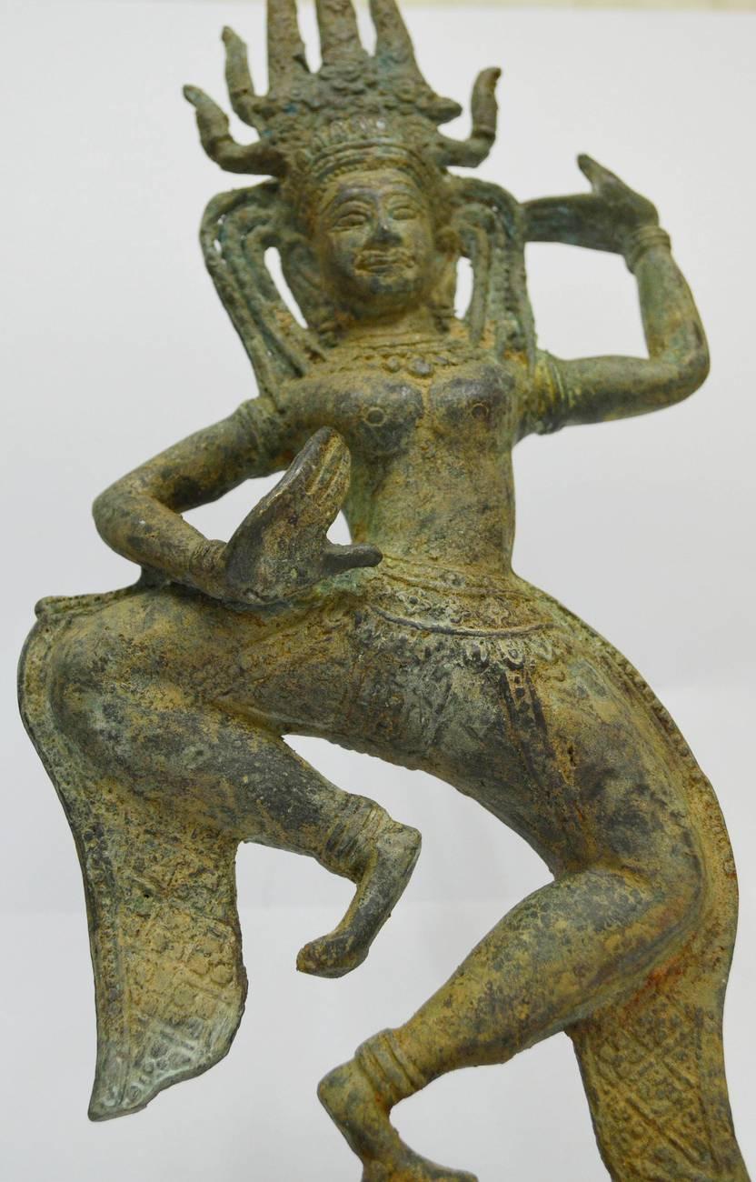 Asian Art /Khmer Angkor /Cambodian Buddha Statue Nang Teap Apsorn Dancing Style