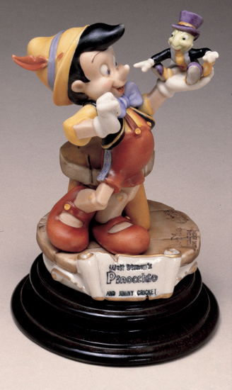 Primary image for Disney Pinocchio Jiminy Cricket Capodimonte Laurenze  C.O.A. Original Box