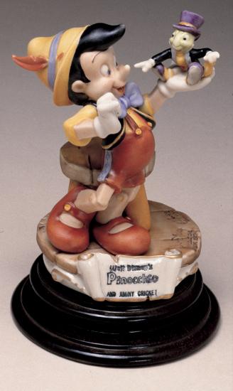 Disney Pinocchio Jiminy Cricket Capodimonte Laurenze  C.O.A. Original Box