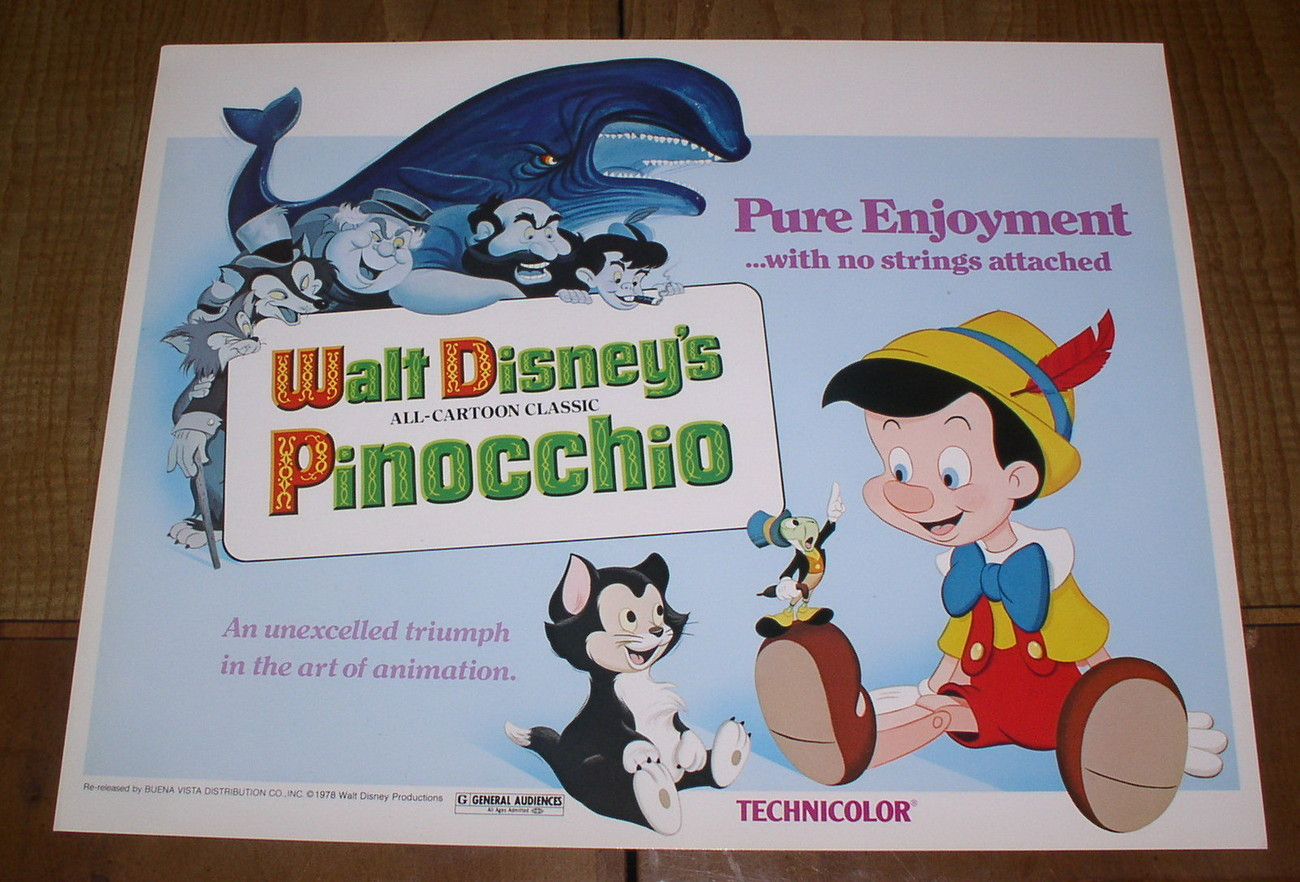 Primary image for Disney Pinocchio Monstro Whale marked Walt Disney Production