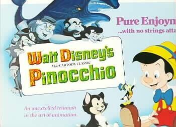 Disney Pinocchio Monstro Whale marked Walt Disney Production