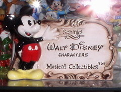 Disney Schmid  Musical  Dealer Display with Mickey Mouse presenting collection