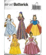 Butterick BP187 Girls Size 7-14 Costumes Snow White Belle Princess Dorothy - $6.85