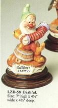 Disney Snow White Bashful Musician Laurenz Capodimonte  C.O.A. Original Box - $289.29