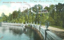 Hunnewell Gardens, Wellesley, Mass 1906 used Postcard  - $5.77