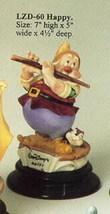 Disney Snow White Happy Musician Laurenz Capodimonte  C.O.A. Original Box - $380.00