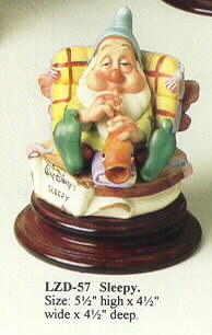 Primary image for Disney Snow White Sleepy Musician  Laurenz Capodimonte C.O.A. Original Box