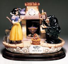 Disney Snow White Witch with apple Capodimonte Laurenz C.O.A. Original Box - $1,378.00