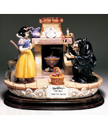 Disney Snow White Witch with apple Capodimonte Laurenz C.O.A. Original Box - $1,378.00