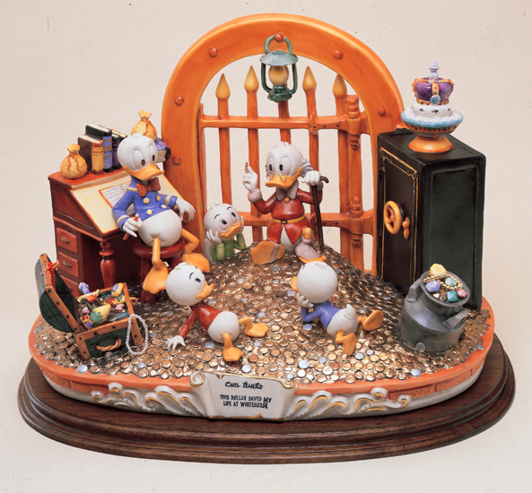Disney Uncle Scrooge  Capodimonte Laurenz Figurine C.O.A. Original Box - $2,430.00