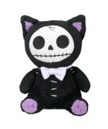 Furrybones Black Cat Mao Mao Wearing White Bow Tie Small Plush Doll - $10.88