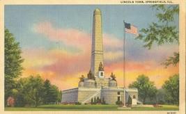 Lincoln Tomb, Springfield Illinois unused linen Postcard  - $3.99