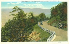 Looking down the Western Slope, Mohawk Trail, Mass 1910s-1920s unused Po... - $4.99
