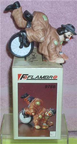 Primary image for Emmett Kelly Jr. Upside Down circus clown Flambro Figurine MIB