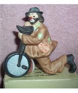 Emmett Kelly Jr. circus clown on one Wheel Bike Figurine Flambro MIB - $23.93